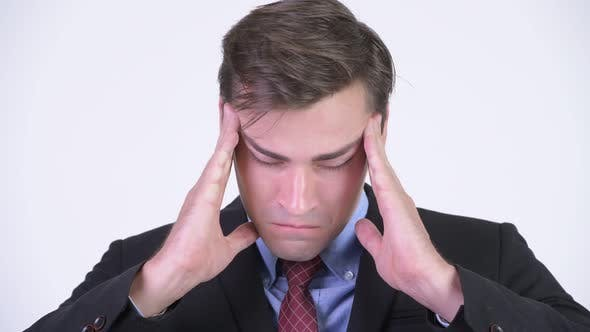 Thumbnail for Young Stressed Businessman Having Headache