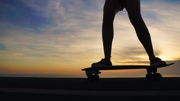 Thumbnail for Feet with Skateboard Close-up