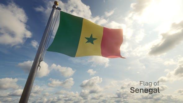 Thumbnail for Senegal Flag on a Flagpole