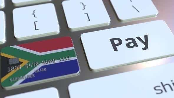 Thumbnail for Bank Card with Flag of South Africa As a Key on a Keyboard