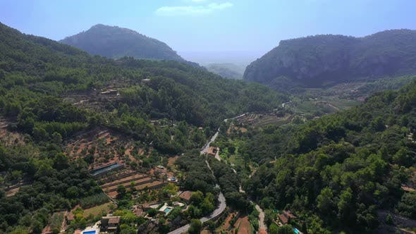 Thumbnail for Aerial Drone Video Footage of Valdemossa Town, Mallorca
