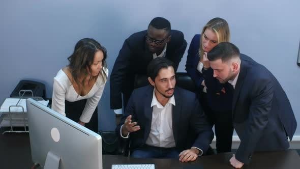 Thumbnail for Portrait of a Group of Multiracial Business People Working Together at a Meeting