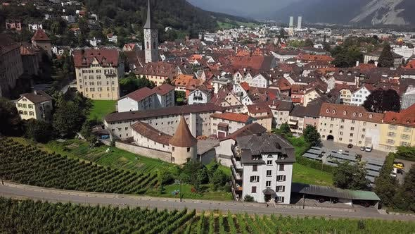 Aerial View of Chur, Switzerland