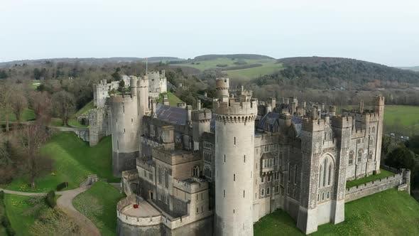 Castle Flyover Aerial Drone 4K