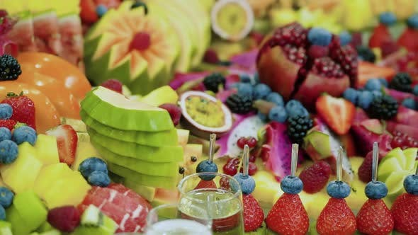 Fruits Event Food Catering. Close Up