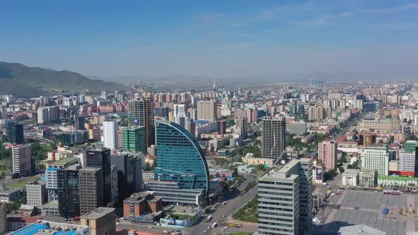 Cover Image for Aerial Around View of Center of Ulaanbaatar City