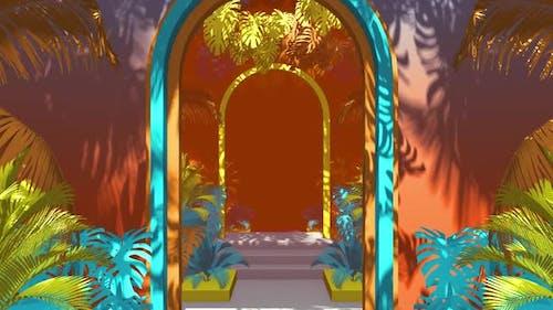 Flying In Jungle Geometry 01 HD