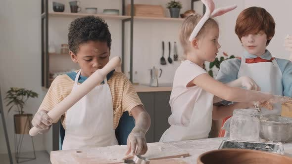 Diverse Children Playing Bakers