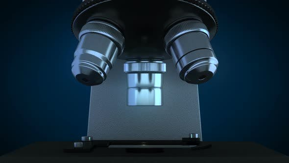 Thumbnail for Scientific Microscope in Dark Laboratory Rotating Its Metal Lenses