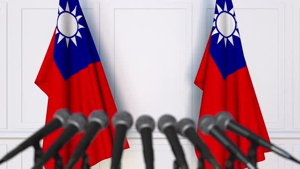 Thumbnail for Taiwanese Official Press Conference with Flags