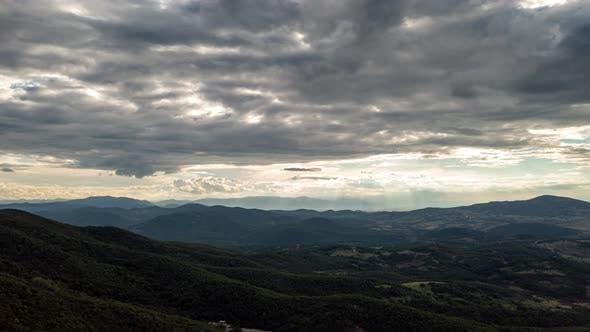 Aerial Mountain Hyperlapse