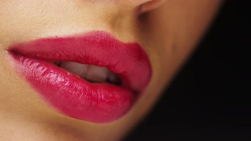 Mexican woman's pink lips