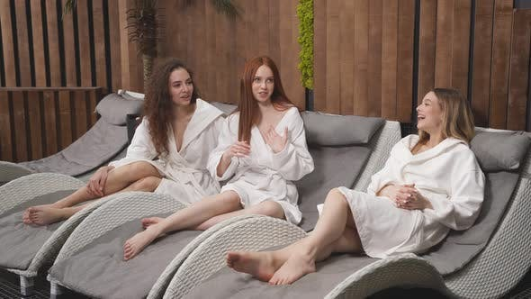 Beautiful Slim Women with Perfect Healthy Silky Legs Skin After Spa Procedures