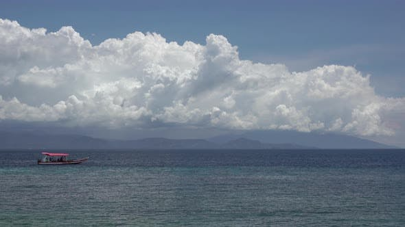 Thumbnail for Divers Boat and Beautiful Clouds