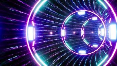 Cyber Neon Portal 4K Loop