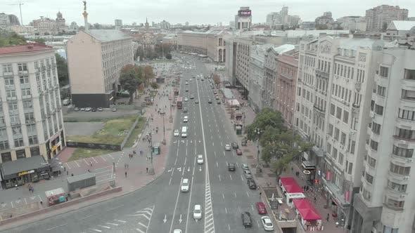 Thumbnail for Khreschatyk Street in Kyiv, Ukraine. Aerial View