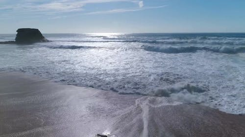 Waves Coming to the Beach
