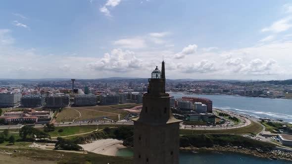 Drohne Flug über spanische Küste