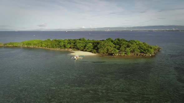Thumbnail for Aerial view of Sulpa island in Philippines.