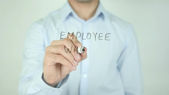 Cover Image for Employee Wages, Writing On Screen