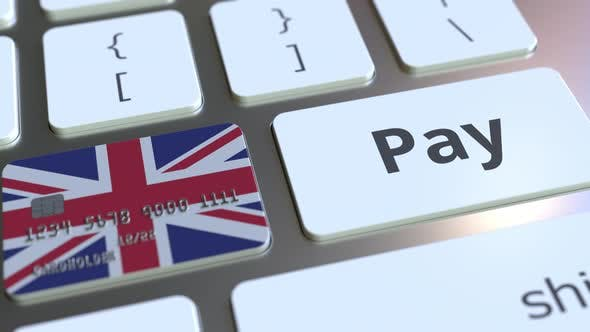 Thumbnail for Bank Card with Flag of the United Kingdom As a Key on a Keyboard