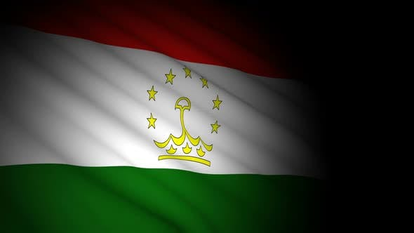 Cover Image for Tajikistan Flag Blowing in Wind