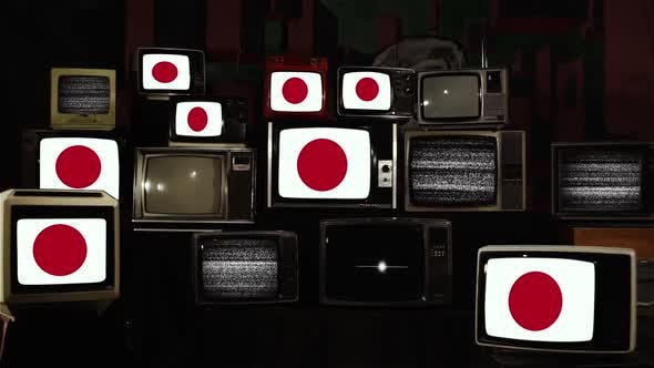 Thumbnail for Flags of Japan and Vintage TVs.