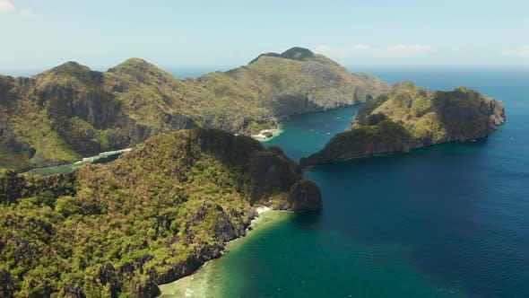 Cover Image for Seascape with Tropical Islands El Nido, Palawan, Philippines