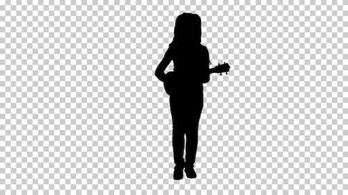 Silhouette Kleines Mädchen, Alpha-Kanal