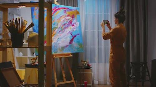 Making Photo of Large Canvas