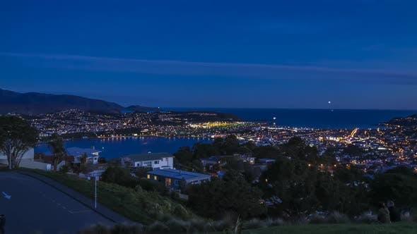 Thumbnail for Wellington airport at nightfall