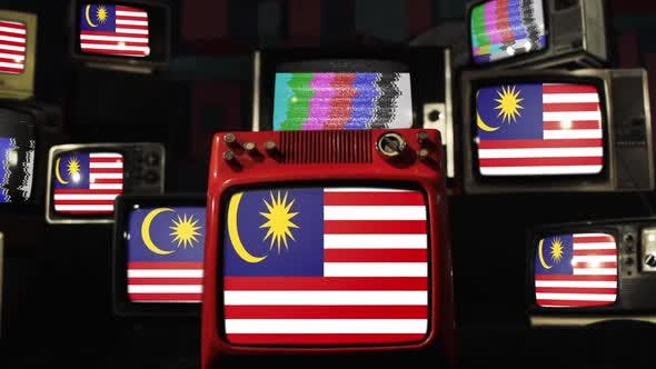 Thumbnail for Malaysia flags and Retro TVs.
