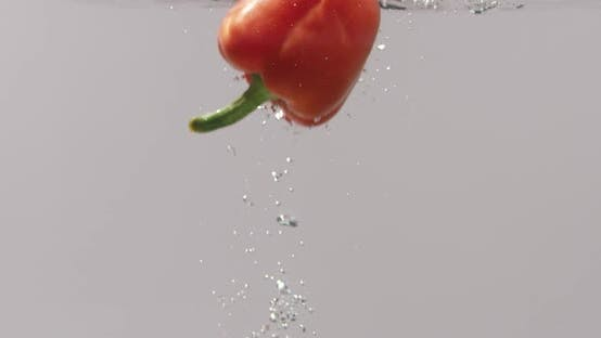Cooking Red Bell Pepper in a Restaurant