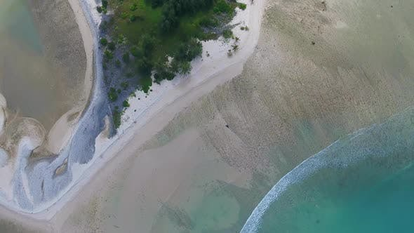 Thumbnail for Top View Aerial Video of Cape and Sea in Thailand