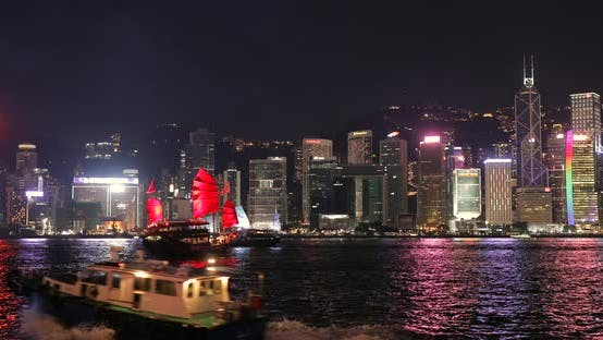 Thumbnail for Victoria harbour in the evening