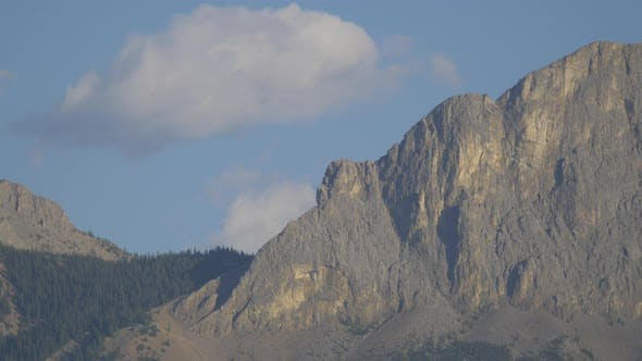 Thumbnail for Pan right of rocky mountains, Banff National Park