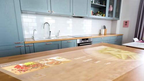 Smart Home Kitchen with Virtual Displays