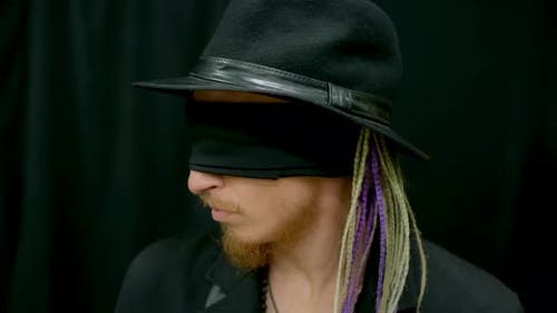 Hallucination Hipster Man Blindfold Illusion Mind