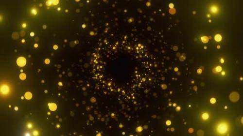 Glitzernde Partikel mit Bokeh