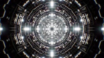 Silver Tunnel Background 4K 01