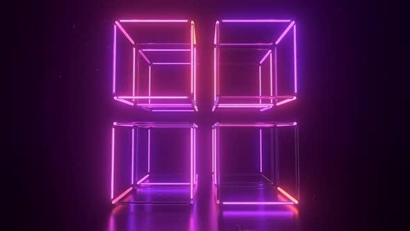 Thumbnail for Neon Cube VJ Loop