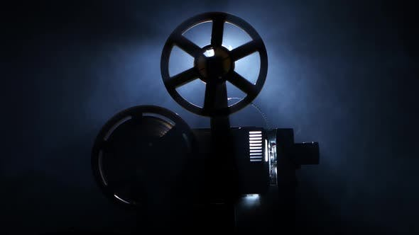 Thumbnail for Old Vintage Movie Projector. Side View