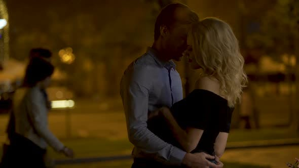 Thumbnail for Man Hugging His Beautiful Blond Girlfriend with All Love, Long-Awaited Meeting