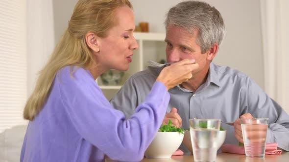 Thumbnail for Senior couple eating healthy