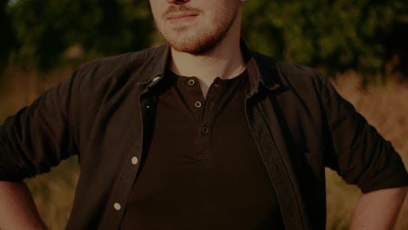 Trendy Hunk in Sunglasses Portrait