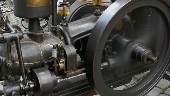 Vintage Stationary Combustion Engine
