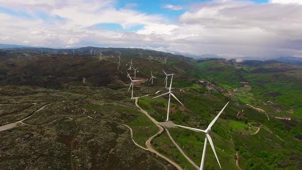 Thumbnail for Windkraftanlage Luftaufnahme