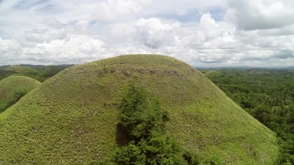 Aerial view of Chocolate Hills Complex, Batuan, Philippines.