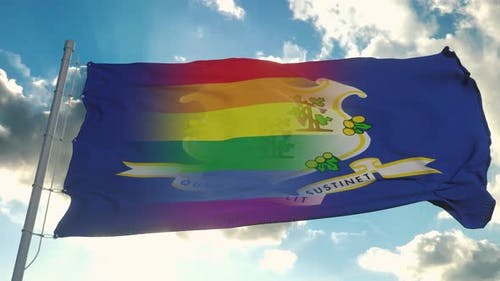 Flag of Connecticut and LGBT