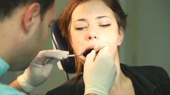 Thumbnail for Little girl sitting in the dental chair